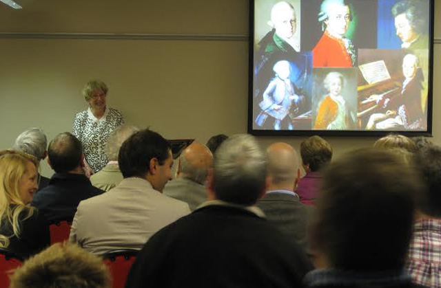 Question time at Ann's Mozart presentation in Durham